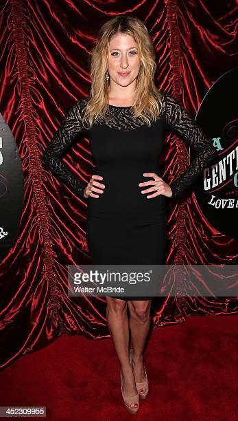 Caissie Levy attends the Broadway opening night of 'A Gentleman's Guide to Love and Murder' at Walter Kerr Theatre on November 17 2013 in New York...