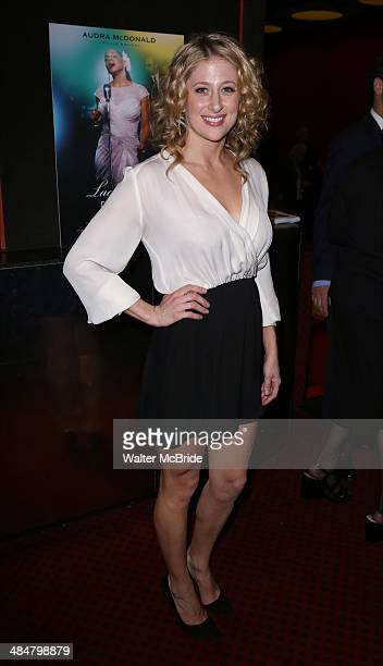 Caissie Levy attends the Broadway Opening Night Performance of 'Lady Day at Emerson's Bar Grill' at Circle in the Square Theatre on April 13 2014 in...