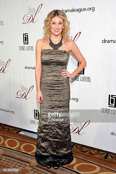 Caissie Levy attends The Drama League's 29th Annual Musical Celebration at The Pierre Hotel on February 11 2013 in New York City