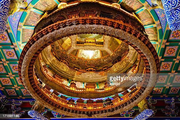 Plafond à Caisson de temples anciens, Beijing, Pékin, Chine