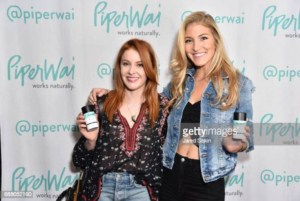 Cait Robards and Jaclyn Shuman attend PiperWai NYC Launch Event at Vnyl on May 24 2017 in New York City