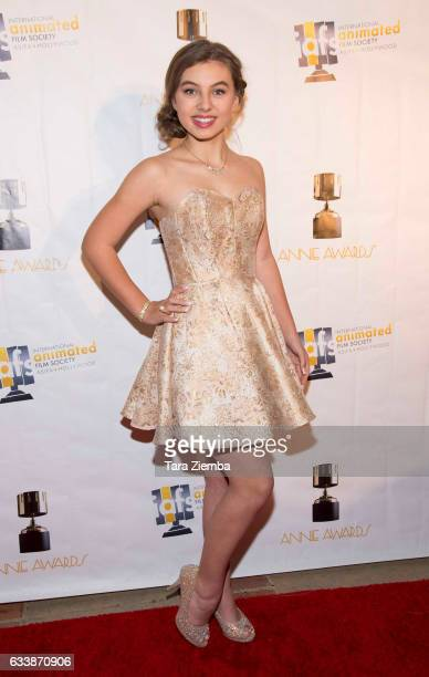 Caitlin Carmichael arrives to the 44th Annual Annie Awards at Royce Hall on February 4 2017 in Los Angeles California