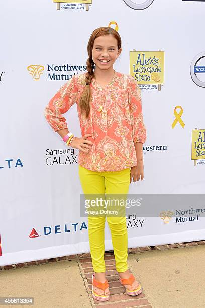Caitlin Carmichael attends the 5th Annual LA Loves Alex's Lemonade Annual Fundraiser at Wilson Plaza UCLA on September 20 2014 in Westwood California