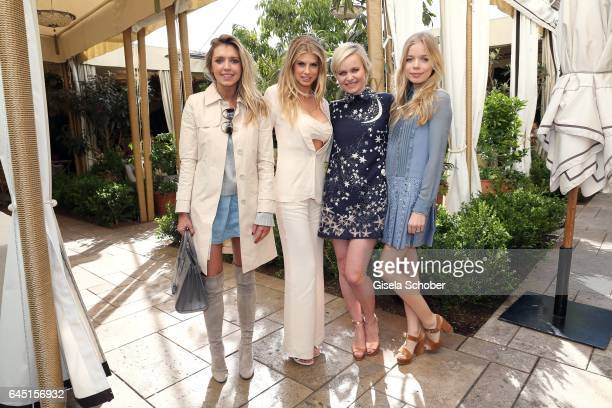 Caitlin Chapman Charlotte McKinney Dr Barbara Sturm and her daughter Charly Sturm during the NetAPorter lunch at hotel Chateau Marmont on February 24...
