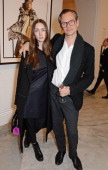 Caitlin Curran and Miles Aldridge attend a private view of Bailey's Stardust a exhibition of images by David Bailey supported by Hugo Boss at the...