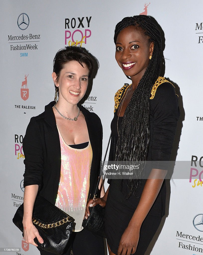 Caitlin Kelly Designer of Caitlin Kelly Swimwear and Kemi Adaramola Brand Manager for Caitlin Kelly Designer Swimwear attend the Mercedes-Benz Fashion Week Swim 2014 Official Kick Off Party at the Raleigh Hotel on July 18, 2013 in Miami Beach, Florida.