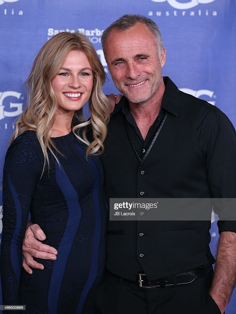 Caitlin Manley and Tim Murphy attend the presentation of the Outstanding Performer Award at the 29th Santa Barbara International Film Festival held at Arlington Theatre on February 1, 2014 in Santa Barbara, California.