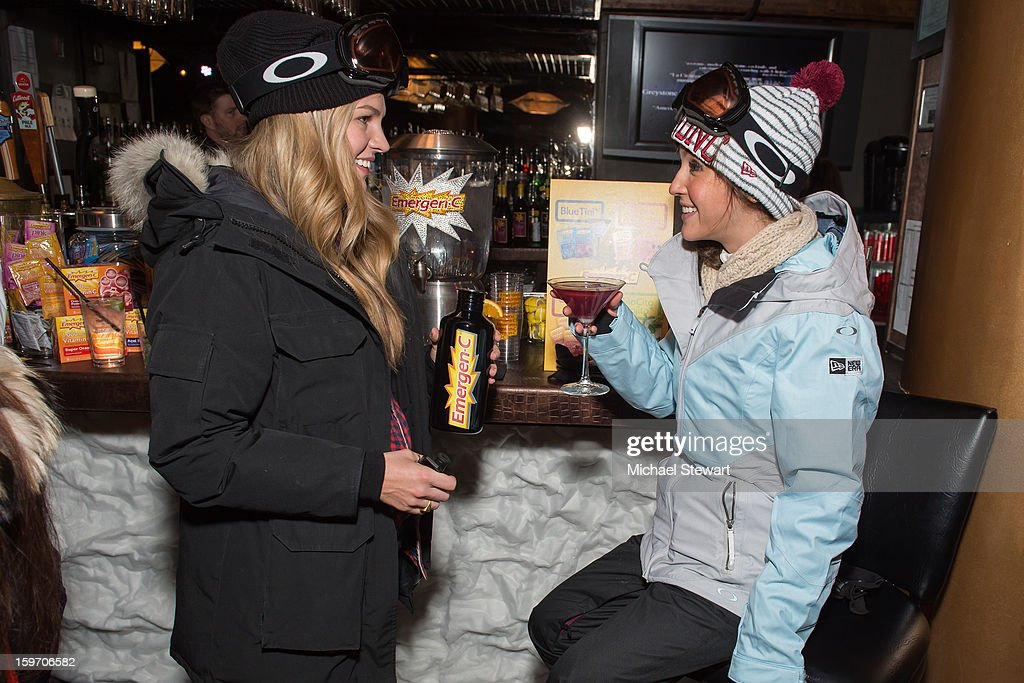 Caitlin Manley McCassy (L) and Kate Voegele attend Oakley Learn To Ride In Collaboration With New Era - Day 1 - 2013 Park City on January 18, 2013 in Park City, Utah.