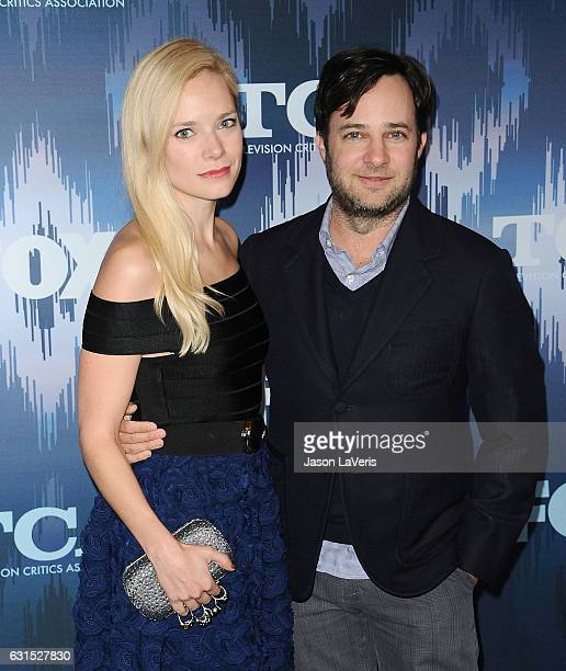 Caitlin Mehner and Danny Strong attend the 2017 FOX AllStar Party at Langham Hotel on January 11 2017 in Pasadena California