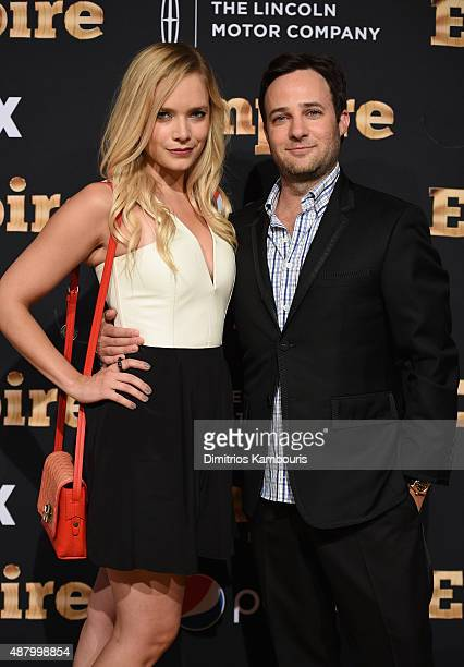 Caitlin Mehner and Danny Strong attend the 'Empire' series season 2 New York Premiere at Carnegie Hall on September 12 2015 in New York City