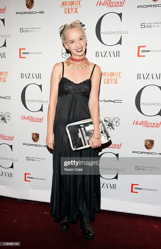 <a gi-track='captionPersonalityLinkClicked' href=/galleries/search?phrase=Caitlin+Moe&family=editorial&specificpeople=5513131 ng-click='$event.stopPropagation()'>Caitlin Moe</a> attends 'Mademoiselle C' New York Premiere at Florence Gould Hall on September 6, 2013 in New York City.