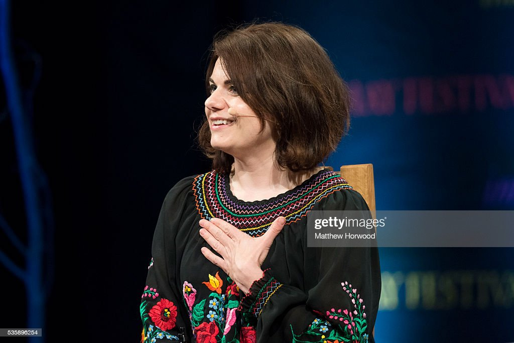 Caitlin Moran, writer, columnist and journalist, speaks during the 2016 Hay Festival on May 30, 2016 in Hay-on-Wye, Wales. The Hay Festival is an annual festival of literature and arts now in its 29th year.