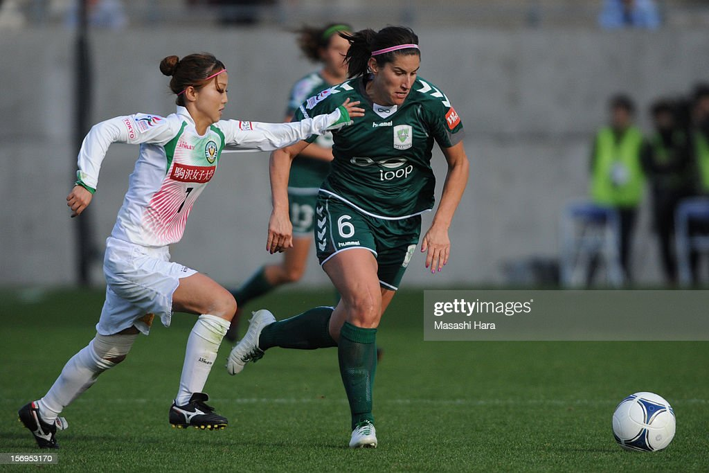 Caitlin Munoz #6 of Canberra United in action during the International Women's Club Championship 3rd Place Match between NTV Beleza and Canberra United at Nack5 Stadium Omiya on November 25, 2012 in Saitama, Japan.