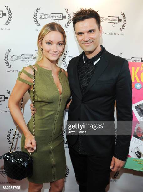 Caitlin O'Connor and Kash Hovey attend the Premiere Of 'As In Kevin' At Socal Clips Indie Film Fest on August 12 2017 in Los Angeles California