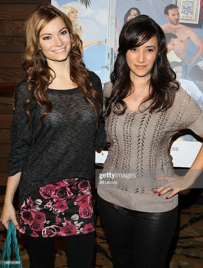 Caitlin O'Connor and Victoria Cruz attend the 'Freeloaders' premiere held at Sundance Cinema on January 7 2013 in Los Angeles California