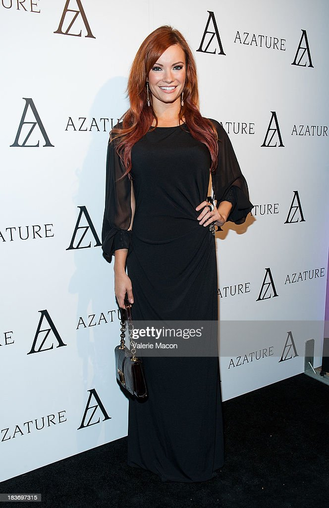Caitlin O'Connor attends The Black Diamond Affair With A Z A T U R E at Sunset Tower on October 8, 2013 in West Hollywood, California.