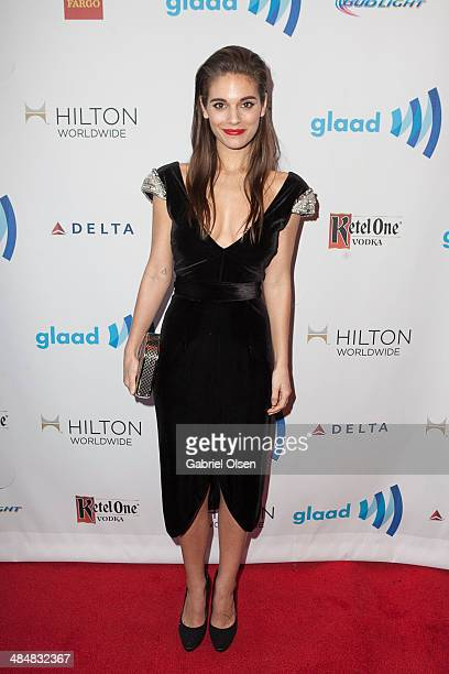 Caitlin Stasey arrives to the 25th Annual GLAAD Media Awards Dinner and Show on April 12 2014 in Los Angeles California