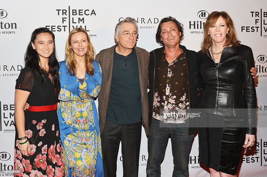 Caitlin Yeo, Sylvia Wilczynski, Robert De Niro, Kim Mordaunt and Jane Rosenthal attend the TFF Awards Night during the 2013 Tribeca Film Festival on April 25, 2013 in New York City.