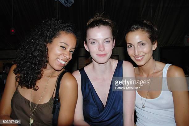 Caitlyn Hodge Betty Gilpin and Natasha Elghanaya attend JULY 4th At Stereo On The Shore at South Hampton on July 4 2007