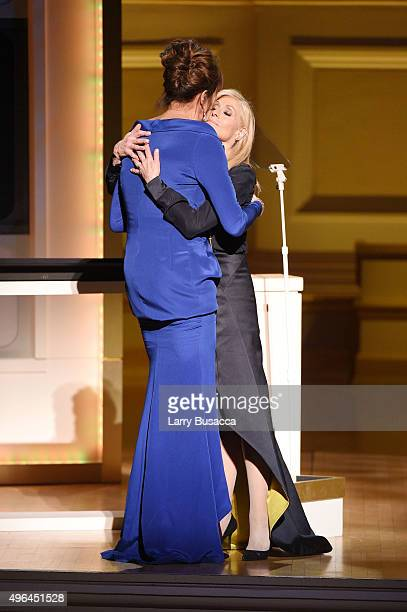 Caitlyn Jenner and Actress Judith Light onstage at the 2015 Glamour Women of the Year Awards on November 9 2015 in New York City