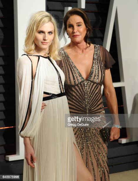 Caitlyn Jenner and Andreja Pejic arrive at the 2017 Vanity Fair Oscar Party Hosted By Graydon Carter at Wallis Annenberg Center for the Performing...