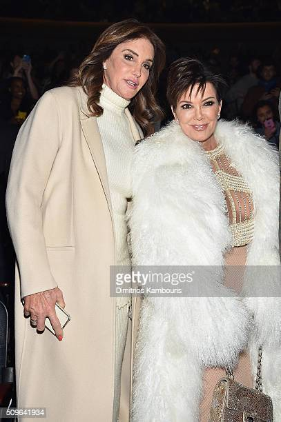 Caitlyn Jenner and Kris Jenner attend Kanye West Yeezy Season 3 on February 11 2016 in New York City