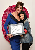 Caitlyn Jenner and Kylie Jenner pose for a photo at the backstage inspiration wall at the 2015 Glamour Women of the Year Awards at Carnegie Hall on...