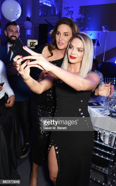 Caitlyn Jenner and Louisa Johnson attend the British LGBT Awards at The Grand Connaught Rooms on May 12 2017 in London England