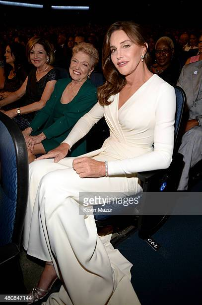 Caitlyn Jenner and mother Esther Jenner attend The 2015 ESPYS at Microsoft Theater on July 15 2015 in Los Angeles California