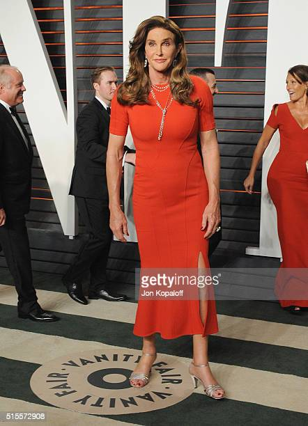 Caitlyn Jenner arrives at the 2016 Vanity Fair Oscar Party Hosted By Graydon Carter at Wallis Annenberg Center for the Performing Arts on February 28...