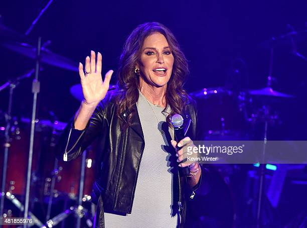 Caitlyn Jenner attends Culture Club's performance at the Greek Theatre on July 24 2015 in Los Angeles California