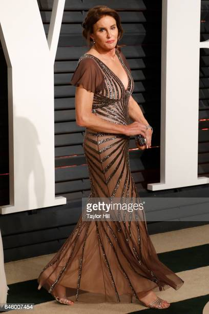 Caitlyn Jenner attends the 2017 Vanity Fair Oscar Party at Wallis Annenberg Center for the Performing Arts on February 26 2017 in Beverly Hills...