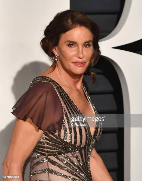 Caitlyn Jenner attends the 2017 Vanity Fair Oscar Party hosted by Graydon Carter at the Wallis Annenberg Center for the Performing Arts on February...