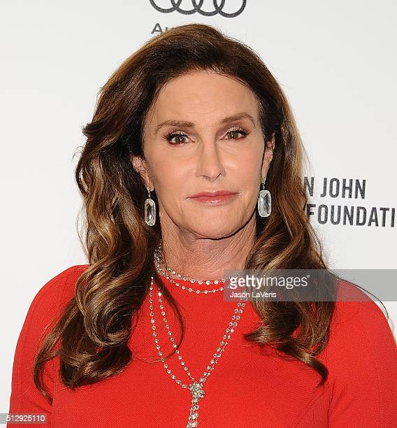 Caitlyn Jenner attends the 24th annual Elton John AIDS Foundation's Oscar viewing party on February 28 2016 in West Hollywood California