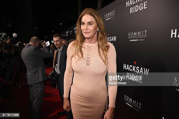 Caitlyn Jenner attends the screening of Summit Entertainment's 'Hacksaw Ridge' at Samuel Goldwyn Theater on October 24 2016 in Beverly Hills...