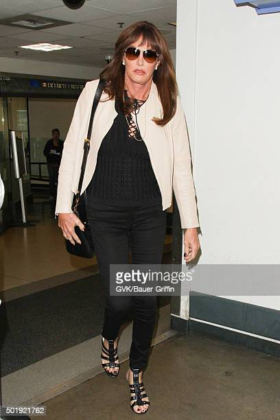 Caitlyn Jenner is seen at LAX on December 18 2015 in Los Angeles California