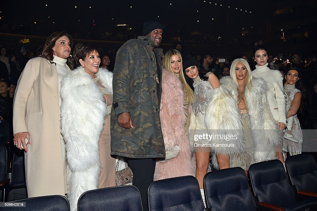 <a gi-track='captionPersonalityLinkClicked' href=/galleries/search?phrase=Caitlyn+Jenner&family=editorial&specificpeople=14645183 ng-click='$event.stopPropagation()'>Caitlyn Jenner</a>, <a gi-track='captionPersonalityLinkClicked' href=/galleries/search?phrase=Kris+Jenner&family=editorial&specificpeople=762610 ng-click='$event.stopPropagation()'>Kris Jenner</a>, <a gi-track='captionPersonalityLinkClicked' href=/galleries/search?phrase=Lamar+Odom&family=editorial&specificpeople=201519 ng-click='$event.stopPropagation()'>Lamar Odom</a>, <a gi-track='captionPersonalityLinkClicked' href=/galleries/search?phrase=Khloe+Kardashian&family=editorial&specificpeople=3955023 ng-click='$event.stopPropagation()'>Khloe Kardashian</a>, <a gi-track='captionPersonalityLinkClicked' href=/galleries/search?phrase=Kylie+Jenner&family=editorial&specificpeople=870409 ng-click='$event.stopPropagation()'>Kylie Jenner</a>, <a gi-track='captionPersonalityLinkClicked' href=/galleries/search?phrase=Kim+Kardashian&family=editorial&specificpeople=753387 ng-click='$event.stopPropagation()'>Kim Kardashian</a>, <a gi-track='captionPersonalityLinkClicked' href=/galleries/search?phrase=Kendall+Jenner&family=editorial&specificpeople=2786662 ng-click='$event.stopPropagation()'>Kendall Jenner</a> and <a gi-track='captionPersonalityLinkClicked' href=/galleries/search?phrase=Kourtney+Kardashian&family=editorial&specificpeople=3955024 ng-click='$event.stopPropagation()'>Kourtney Kardashian</a> attend Kanye West Yeezy Season 3 on February 11, 2016 in New York City.