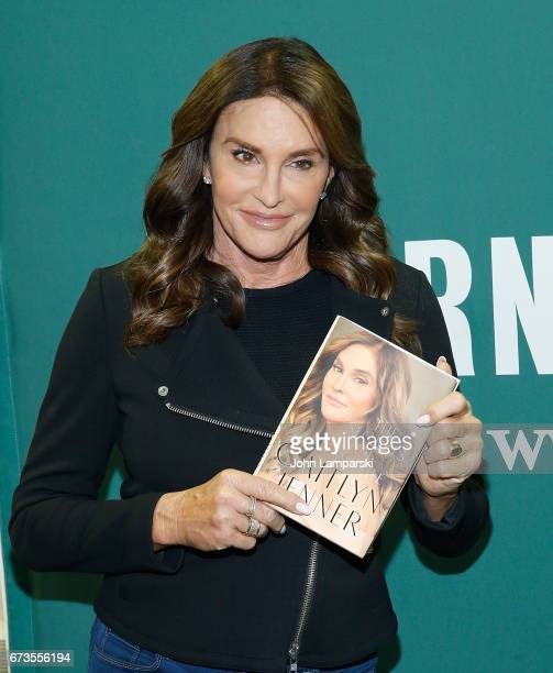 Caitlyn Jenner signs copies of her new book 'The Secrets of My Life' at Barnes Noble Union Square on April 26 2017 in New York City