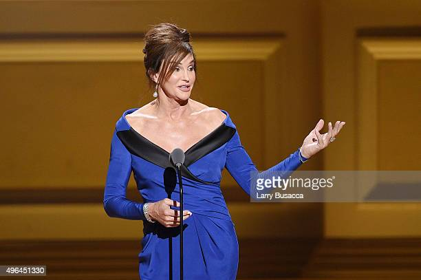Caitlyn Jenner speaks onstage at the 2015 Glamour Women of the Year Awards on November 9 2015 in New York City