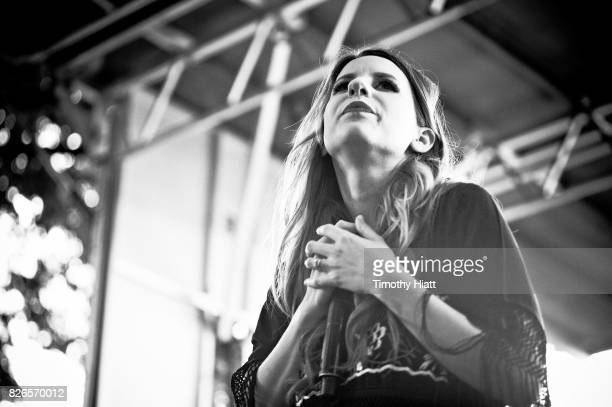 Caitlyn Smith performs on Day Two of Lollapalooza at Grant Park on August 4 2017 in Chicago Illinois