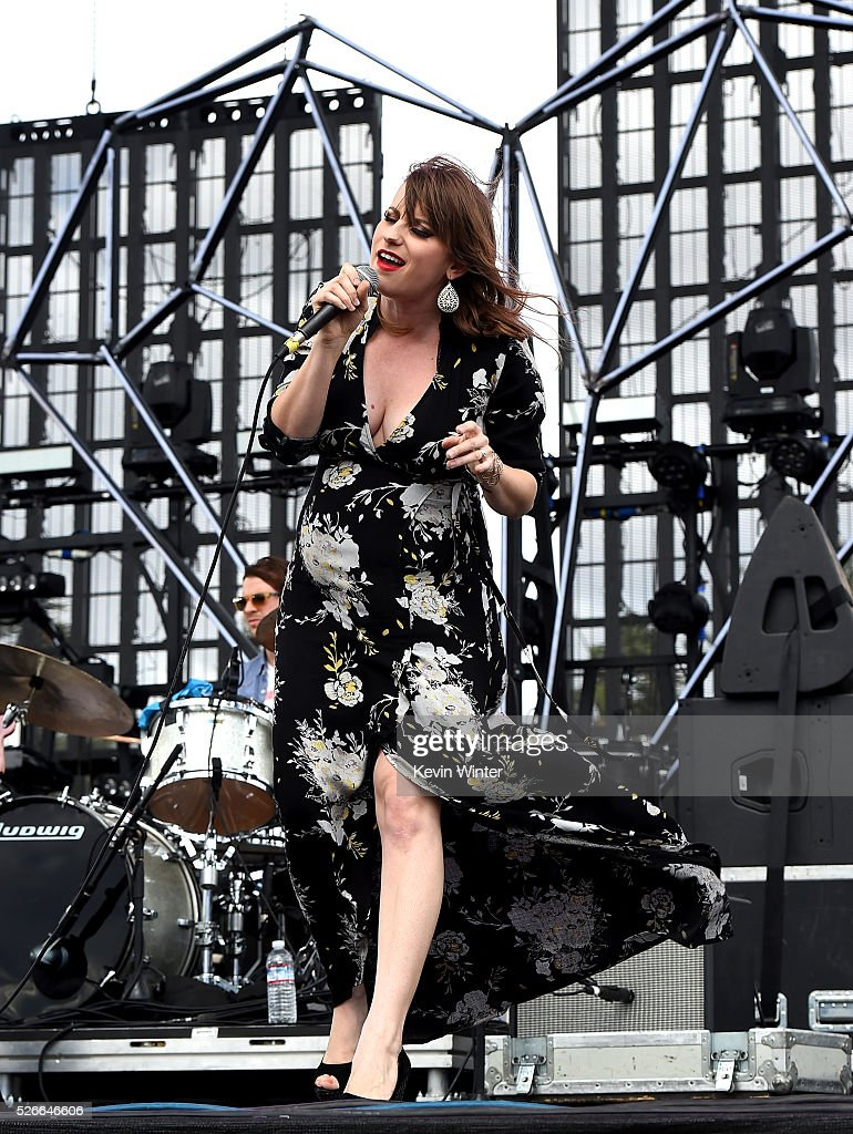 Caitlyn Smith performs onstage during 2016 Stagecoach California's Country Music Festival at Empire Polo Club on April 30, 2016 in Indio, California.