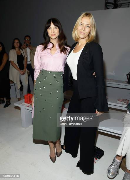 Caitriona Balfe and Tara Swennen attend Noon By Noor September 2017 New York Fashion Week The Shows at Gallery 3 Skylight Clarkson Sq on September 7...