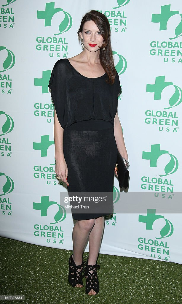 <a gi-track='captionPersonalityLinkClicked' href=/galleries/search?phrase=Caitriona+Balfe&family=editorial&specificpeople=4359165 ng-click='$event.stopPropagation()'>Caitriona Balfe</a> arrives at the Global Green USA's 10th Annual pre-Oscar party held at Avalon on February 20, 2013 in Hollywood, California.