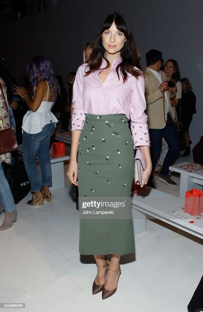 Caitriona Balfe attends Noon By Noor September 2017, New York Fashion Week: The Shows at Gallery 3, Skylight Clarkson Sq on September 7, 2017 in New York City.