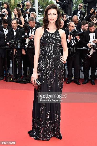 Caitriona Balfe attends the 'Cafe Society' premiere and the Opening Night Gala during the 69th annual Cannes Film Festival at the Palais des...