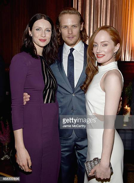 Caitriona BalfeSam Heughan and Lotte Verbeek attend the 'Outlander' MidSeason New York Premiere after party at The Oak Room on April 1 2015 in New...