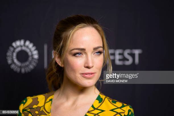 Caity Lotz attends PaleyFest LA at the Dolby Theatre on March 18 2017 in the Hollywood section of Los Angeles California / AFP PHOTO / DAVID MCNEW