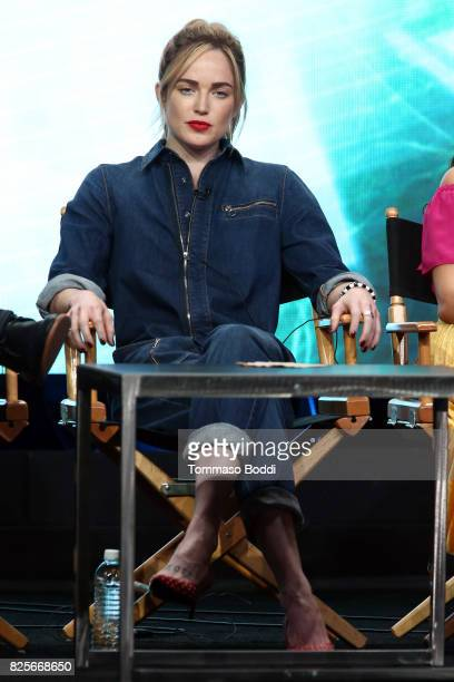 Caity Lotz attends the 2017 Summer TCA Tour CW Panels at The Beverly Hilton Hotel on August 2 2017 in Beverly Hills California