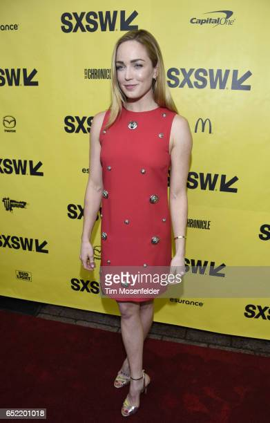 Caity Lotz attends the Film premiere of 'Small Town Crime' during 2017 SXSW Conference and Festivals at the Paramount Theater on March 11 2017 in...