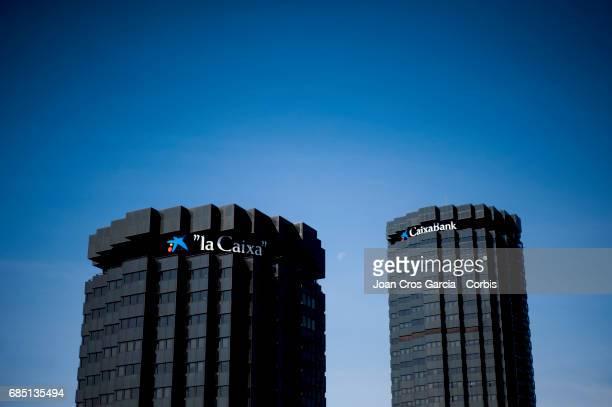 Caixa Bank building office on May 17 2017 in Barcelona Spain 'n'n